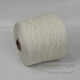 Пряжа Cotton Cordonetto 400 м 100 гр Белый