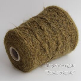 Пряжа Alpaca Filitaly Lab Wild Brushed 200 м 100 гр Зелень