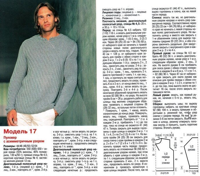мужской свитер схема картинки носят