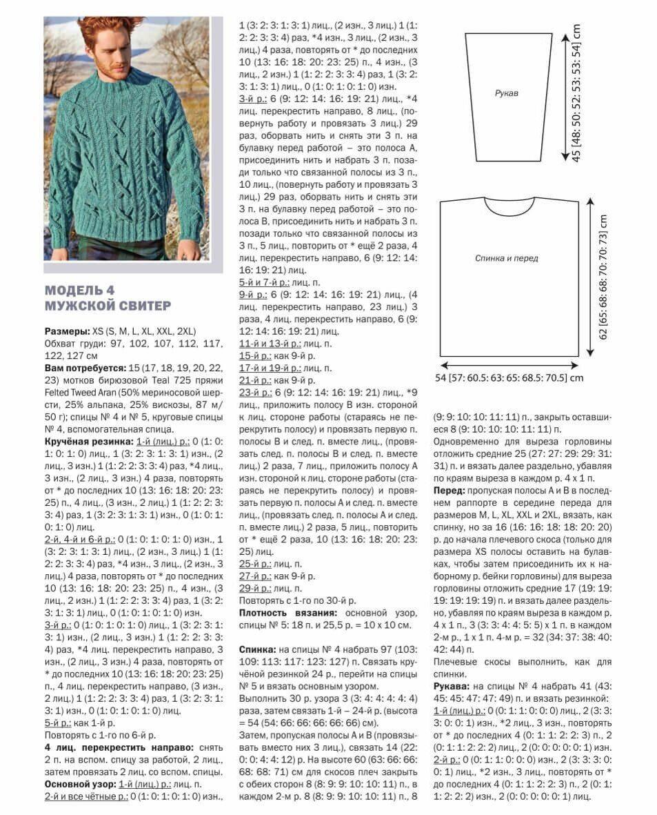 столь рисунки для мужских свитеров спицами со схемами и описанием потом через три